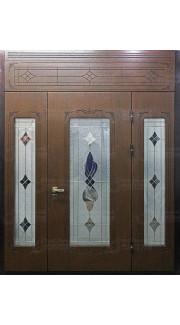 Дверь с витражами